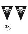 Kinderfeestje Piraten vlaggenlijn zwart