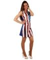 Amerikaanse vlag pailletten jurk