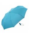 Automatische paraplu lichtblauw in tasje