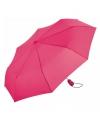 Automatische paraplu fuchsia in tasje