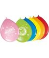 Gekleurde ballonnetjes voor verjaardag 8 stuks