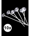 Ballonnenstokjes in zakje 10 stuks