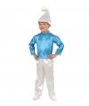 Carnavalskostuum Blauw kabouter kostuum kinderen