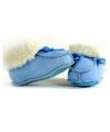 Warme gevoerde babysloffen blauw