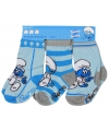 Blauwe baby sokken Smurfen 3-pak