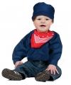 Carnavalskostuum Blauwe boeren kiel voor peuters
