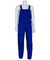 Blauwe unisex overall voor volwassenen