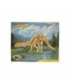 Kinder Bouwpakket Apathosaurus hout