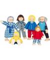 Speelgoed poppetjes familie 6 stuks