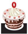 Verjaardag Kaarsje 0 jaar