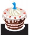 Verjaardag Kaarsje 1 jaar