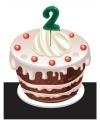 Verjaardag Kaarsje 2 jaar