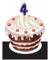 Verjaardag Kaarsje 4 jaar