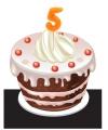 Verjaardag Kaarsje 5 jaar