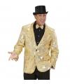 Carnavalskostuum Colbert pailletten goud