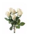 Creme kleurige rozen boeket 38 cm
