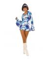 Carnavalskostuum dames hippie jurkje blauw