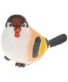 Decoratie vogeltje Putter 17 cm