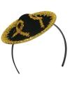 Mini sombrero op haarband voor dames