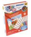 Dinosaurus kleurplaten boek met stiften