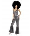 Carnavalskostuum Zilver disco kostuum voor dames