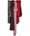 Donkerroze gebreide sjaal 176 cm
