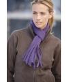 Fleece sjaal met franjes 150 cm