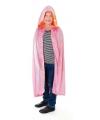 Luxe roze mantel van fluweel voor kinderen