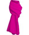Fuchsia roze fleece sjaal lang