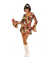 Carnavalskostuum Gekleurd hippie jurkje voor dames