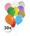 Voordeelset gekleurde ballonnen 30x