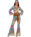 Carnavalskostuum Gekleurde flower power kleding