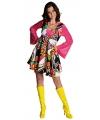 Carnavalskostuum Gekleurde hippie jurk voor dames