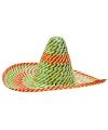 Voordelige sombrero gekleurd 50 cm
