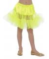 Carnavalskostuum Gele petticoat voor kinderen