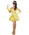 Dames prinsessen kostuum geel