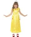 Gele prinsessenjurk Belle voor meisjes