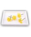 Knutsel bloemen roos geel van satijn 12 cm