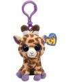 Pluche giraffe sleutelclip 12 cm