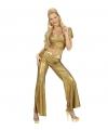 Carnavalskostuum Glimmende gouden damesbroek