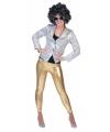 Gouden glitter leggings voor dames