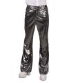 Carnavalskostuum Glimmende zilveren disco broek