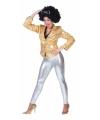 Zilveren glitter leggings voor dames