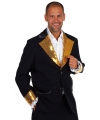 Carnavalskostuum Glitter colbert zwart/goud