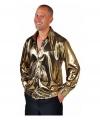 Metallic gouden herenblouse