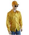 Carnavalskostuum gouden pailletten blouse heren