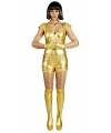 Gouden spacegirl kostuum