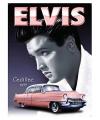 Metalen reclamebord Elvis Cadillac 30x40cm