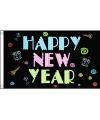 Happy New Year neon vlag