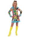 Carnavalskostuum Hippie bloemen jurk dames